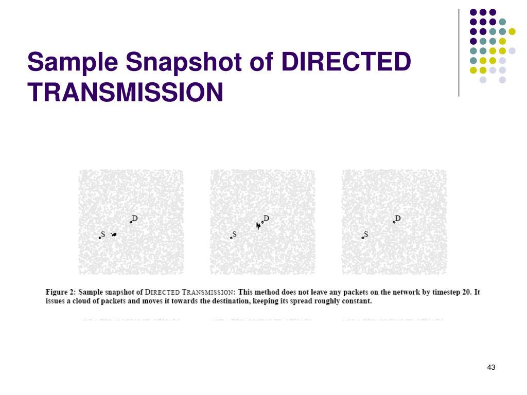 Sample Snapshot of DIRECTED TRANSMISSION