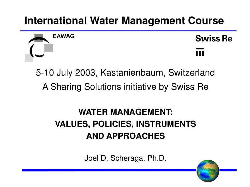 international water management course l.