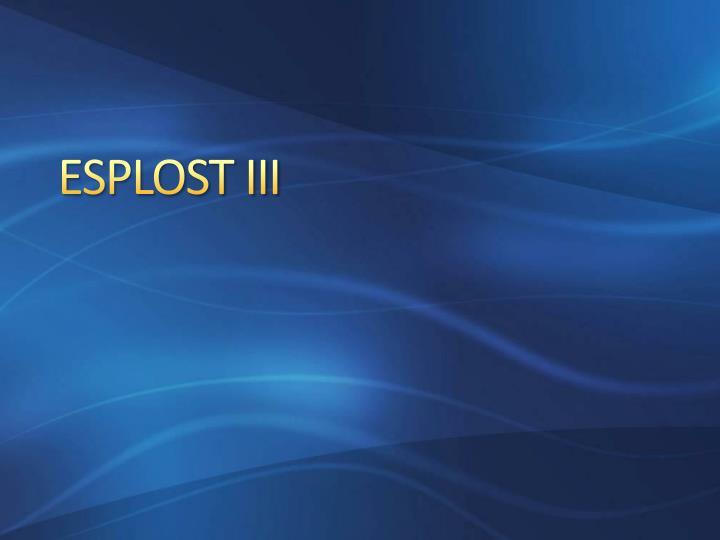 ESPLOST III