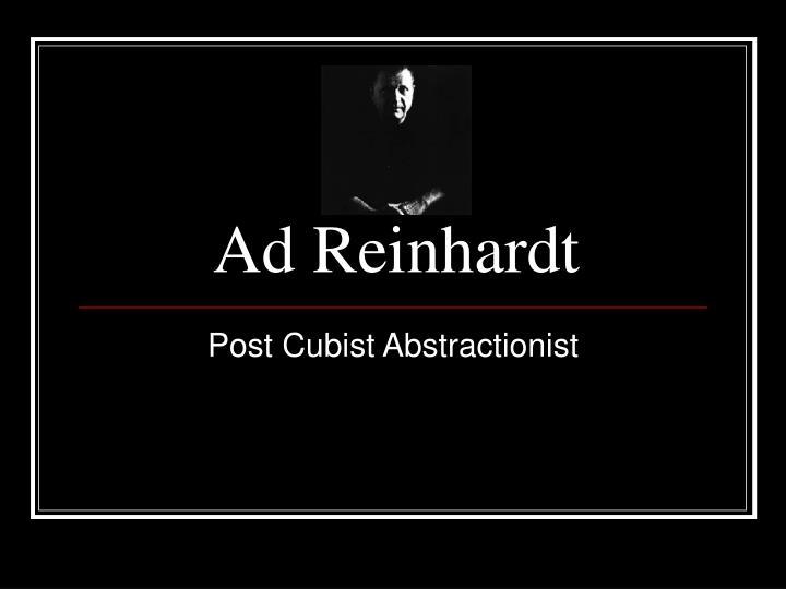 ad reinhardt n.