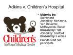 adkins v children s hospital