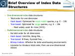 brief overview of index data structures
