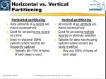 horizontal vs vertical partitioning