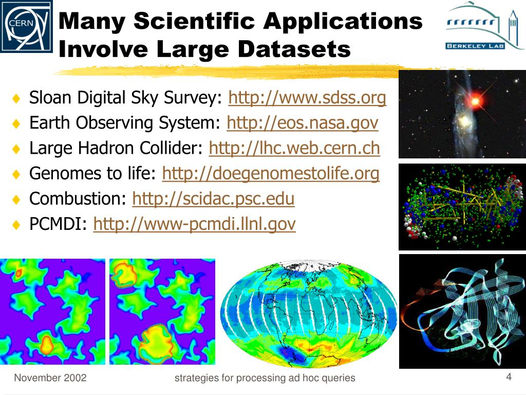 Many Scientific Applications Involve Large Datasets