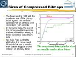 sizes of compressed bitmaps21