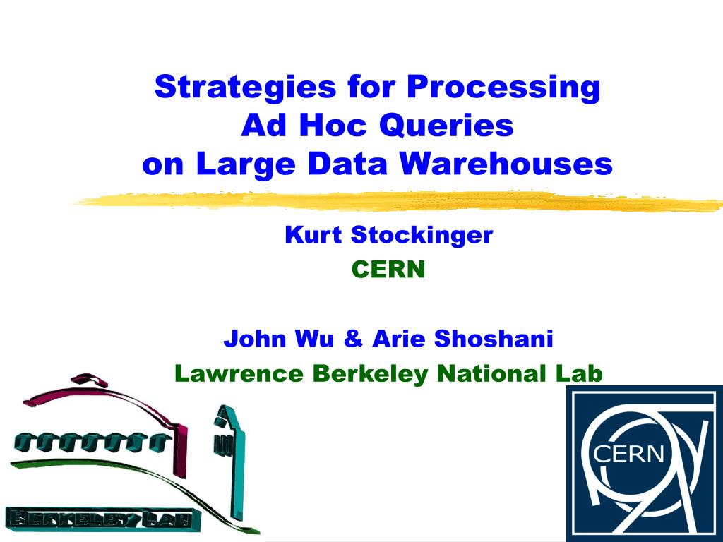 strategies for processing ad hoc queries on large data warehouses l.