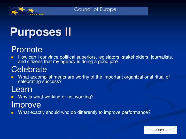 Purposes II