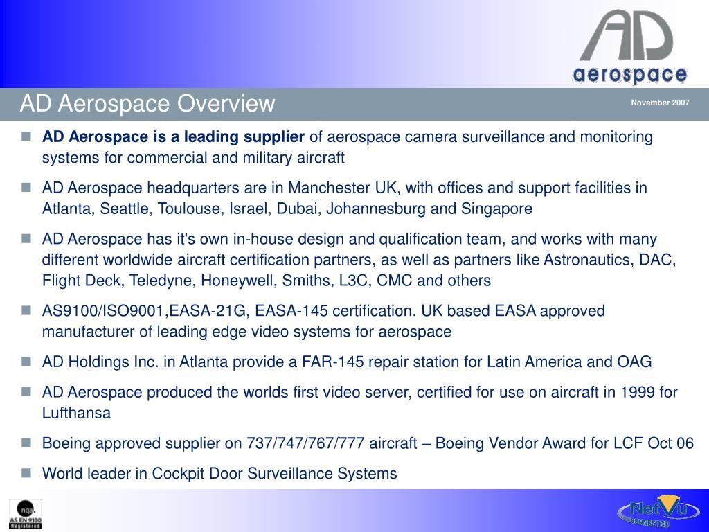AD Aerospace Overview