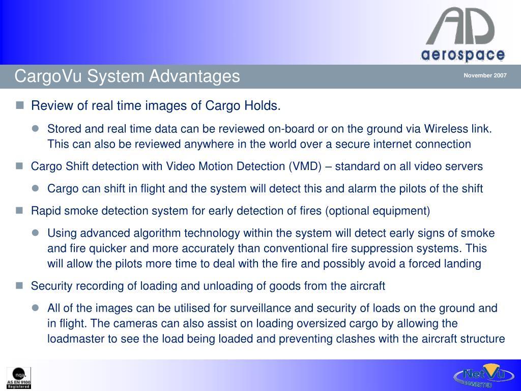 CargoVu System Advantages