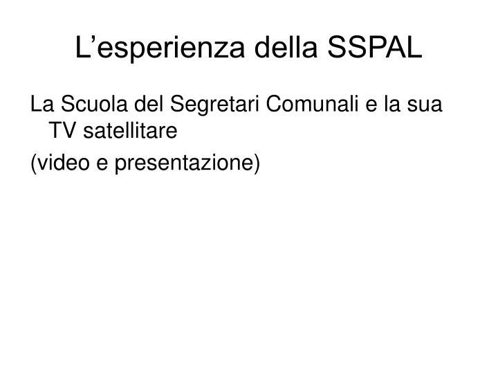 L'esperienza della SSPAL