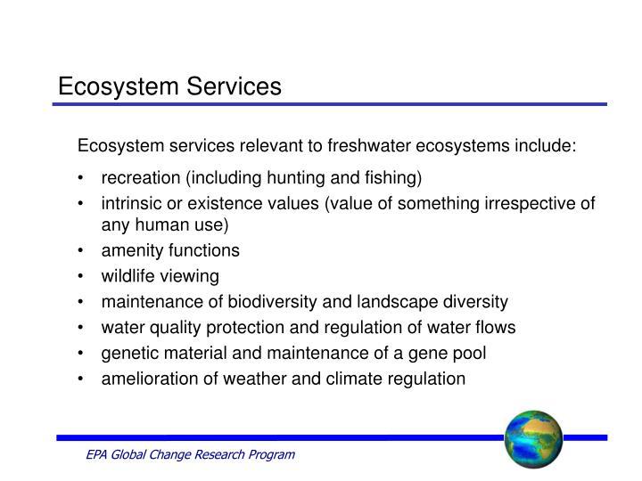 Ecosystem services3