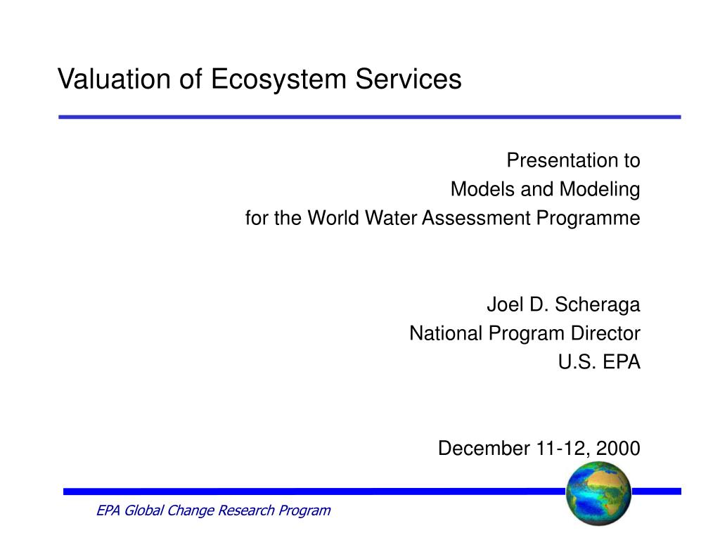 valuation of ecosystem services l.