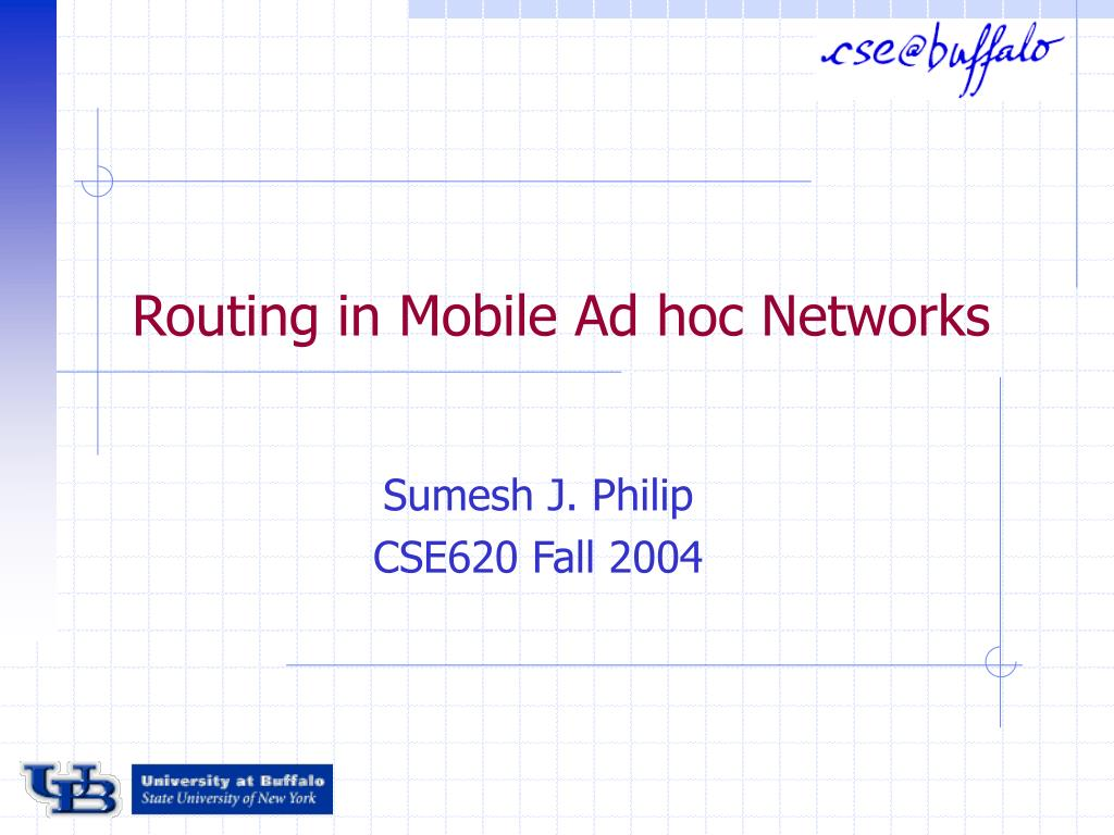 routing in mobile ad hoc networks l.