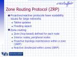 zone routing protocol zrp