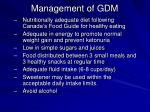 management of gdm
