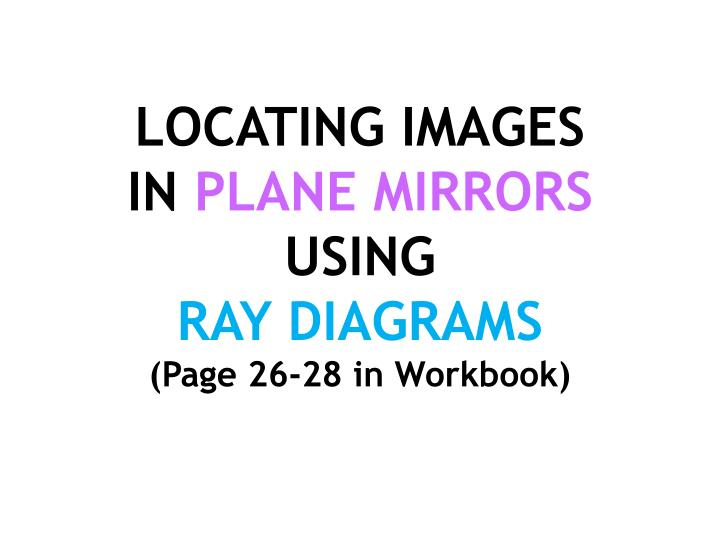 Ppt Locating Images In Plane Mirrors Using Ray Diagrams Page 26