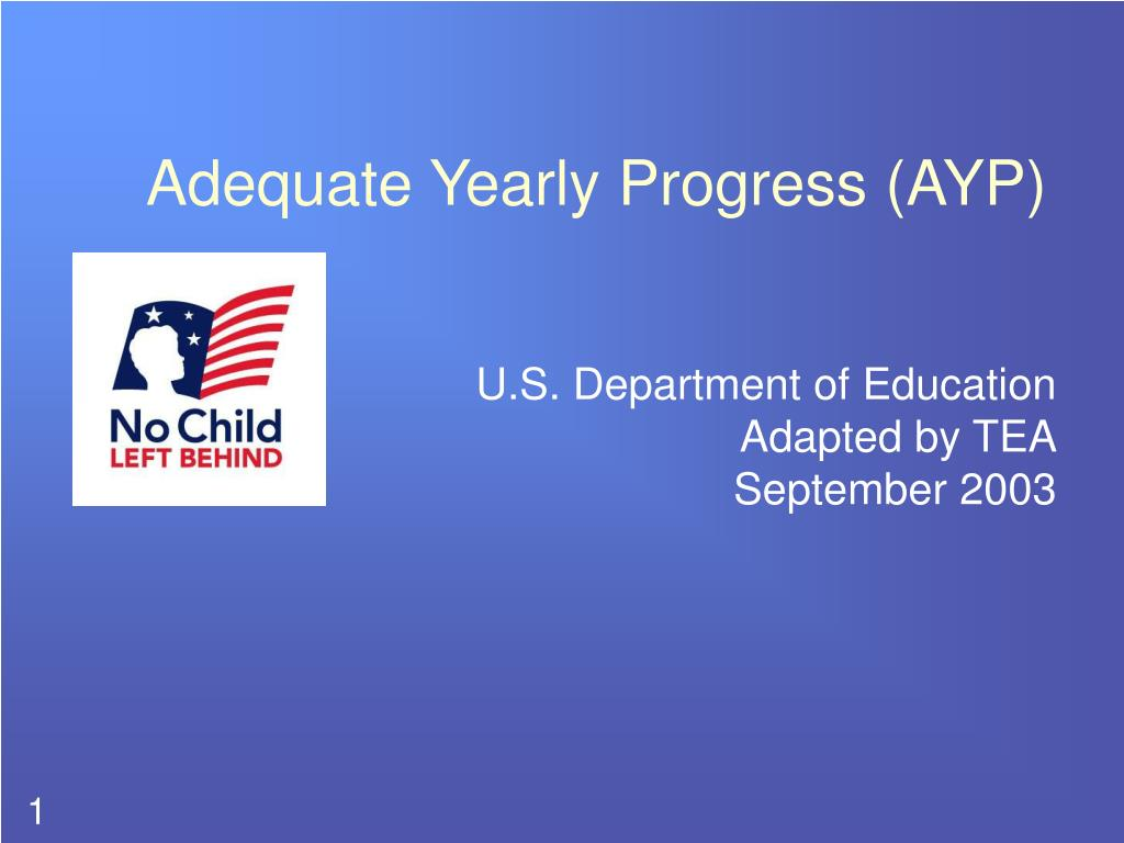 adequate yearly progress ayp l.