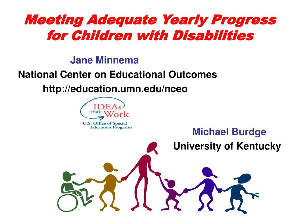 meeting adequate yearly progress for children with disabilities l.
