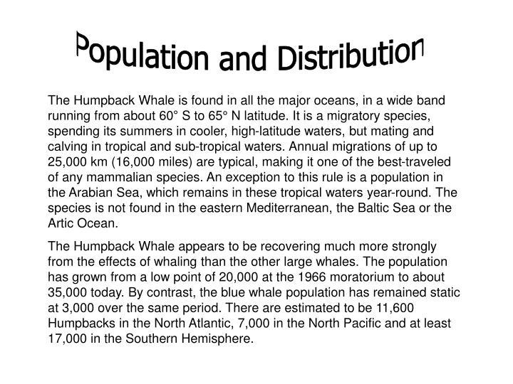 Population and Distribution