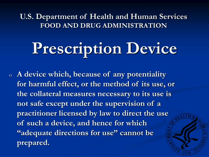 Prescription device