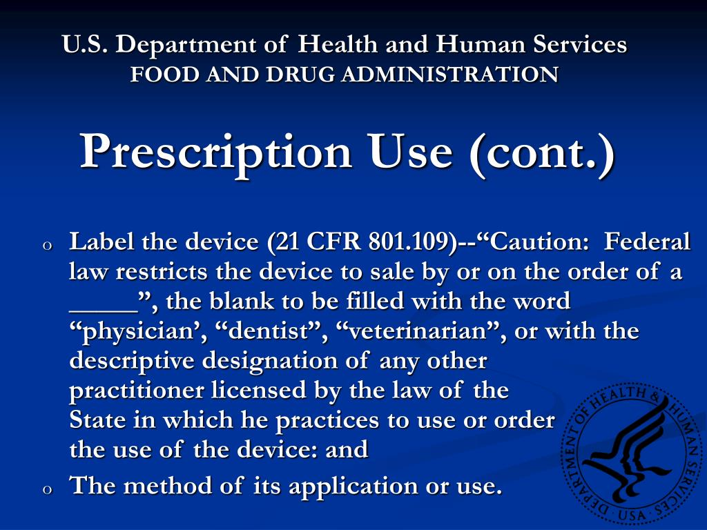 Prescription Use (cont.)