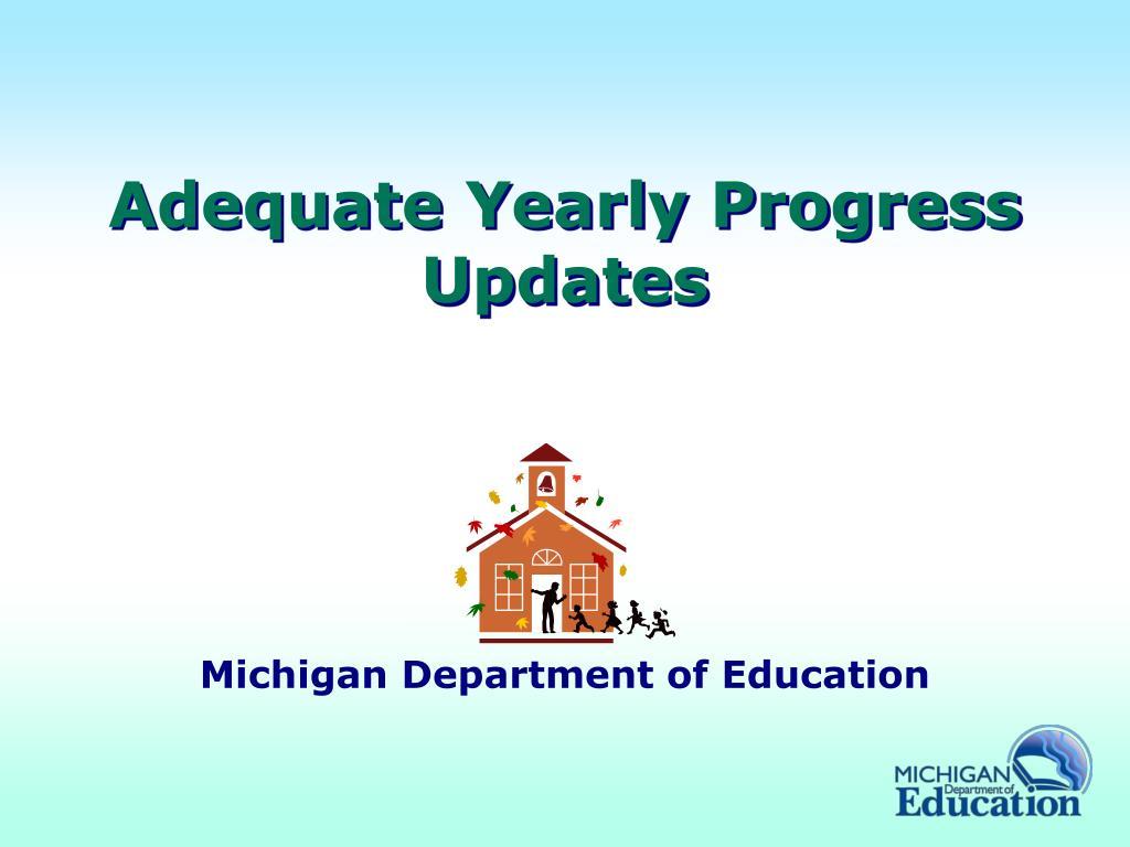 adequate yearly progress updates l.