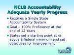 nclb accountability adequate yearly progress