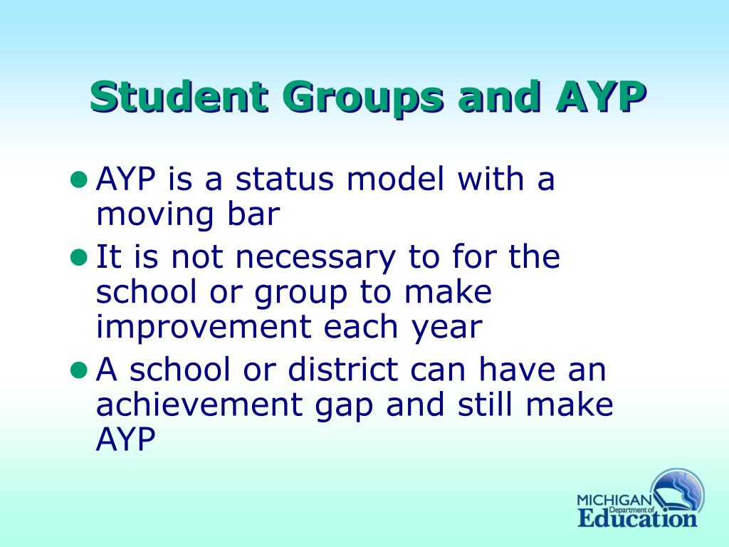 Student Groups and AYP