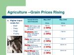 agriculture grain prices rising