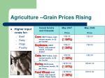 agriculture grain prices rising
