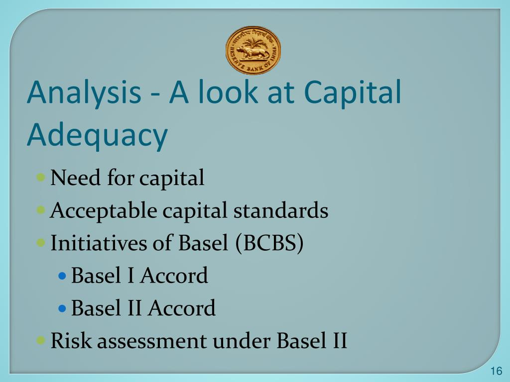 Analysis - A look at Capital Adequacy