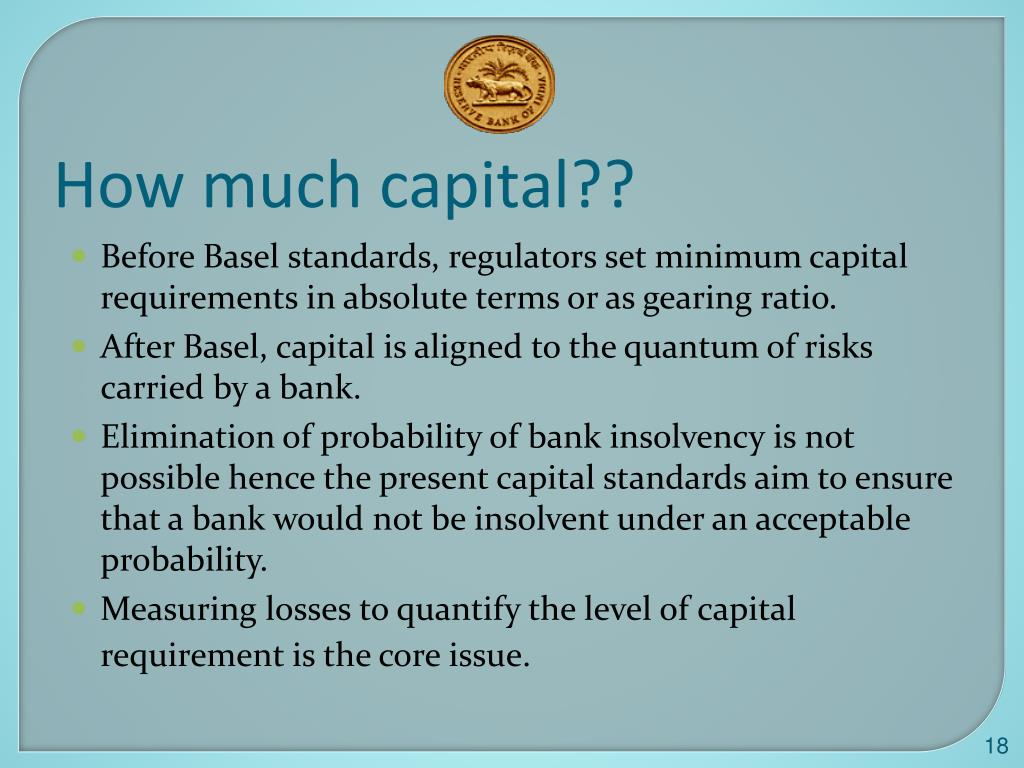 How much capital??