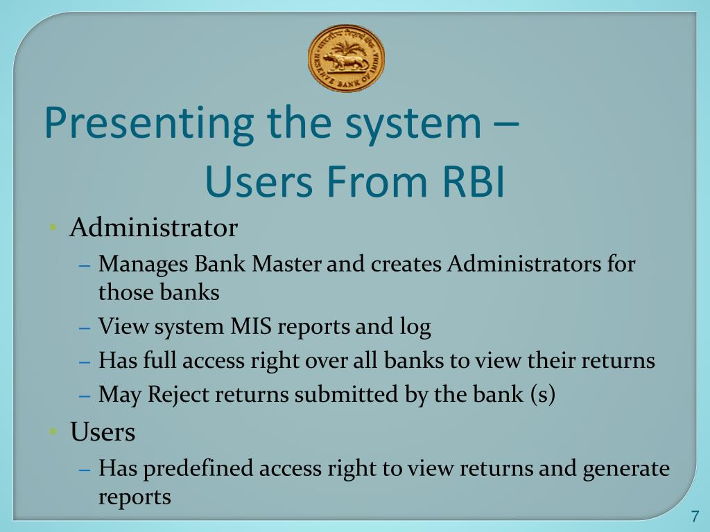 Presenting the system –