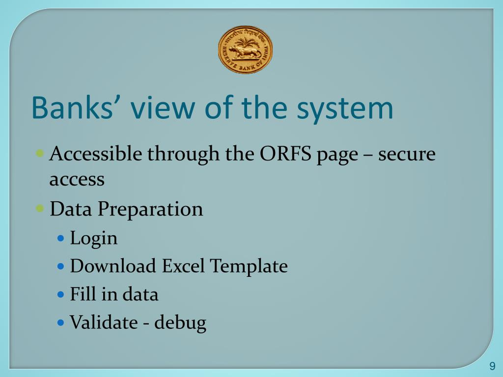 Banks' view of the system