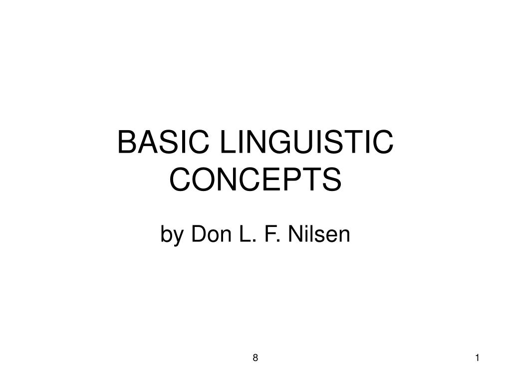 basic linguistic concepts l.