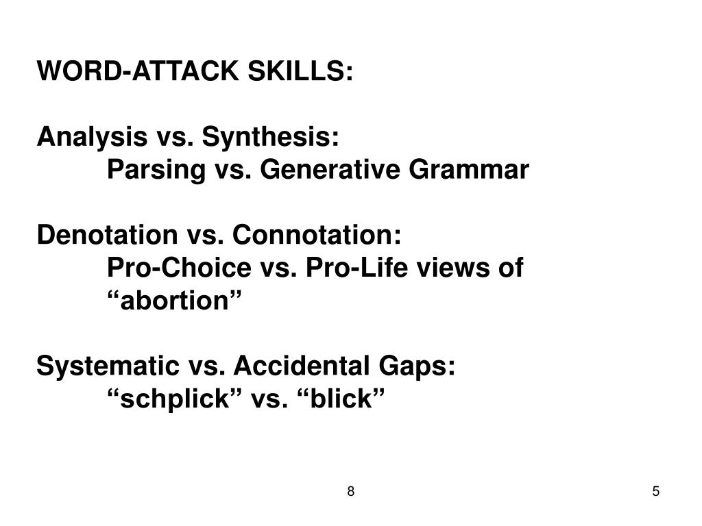 WORD-ATTACK SKILLS:
