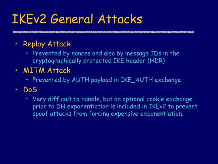 IKEv2 General Attacks