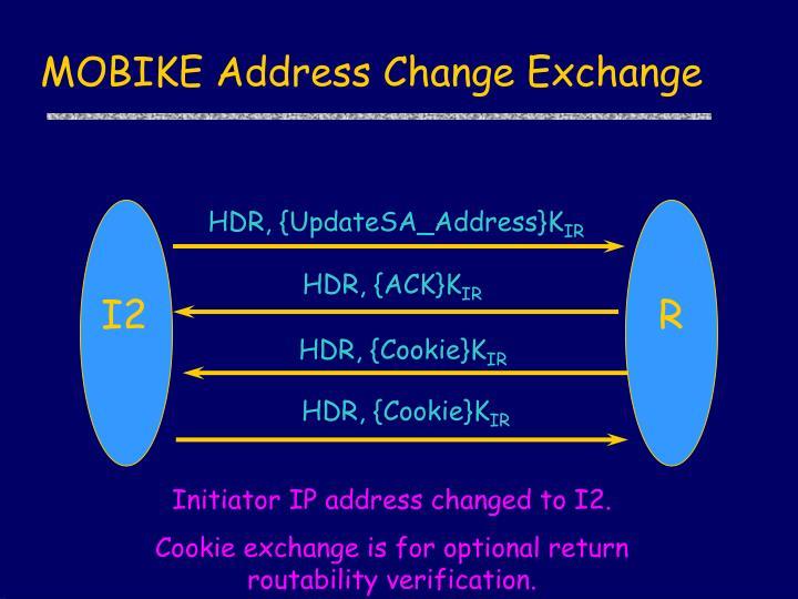 MOBIKE Address Change Exchange