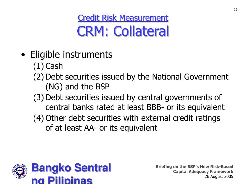 Credit Risk Measurement