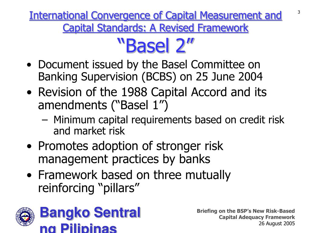 International Convergence of Capital Measurement and Capital Standards: A Revised Framework
