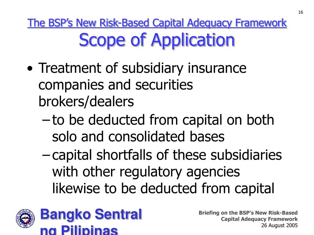 The BSP's New Risk-Based Capital Adequacy Framework