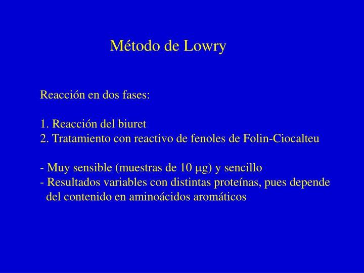 Método de Lowry