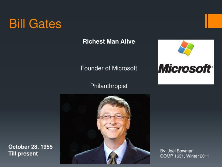 Ppt Bill Gates Powerpoint Presentation Free Download Id 1479139