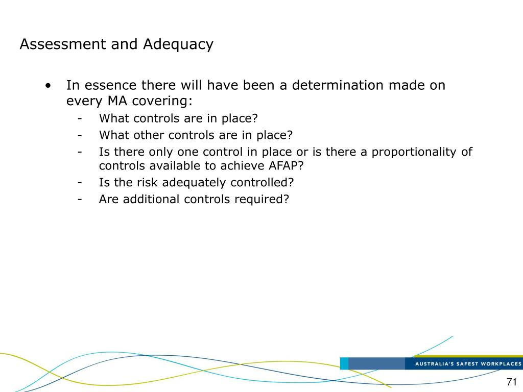 Assessment and Adequacy