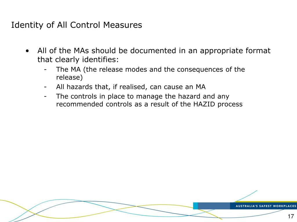 Identity of All Control Measures