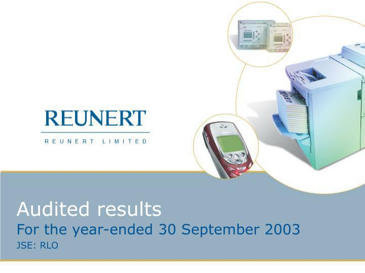 audited results n.