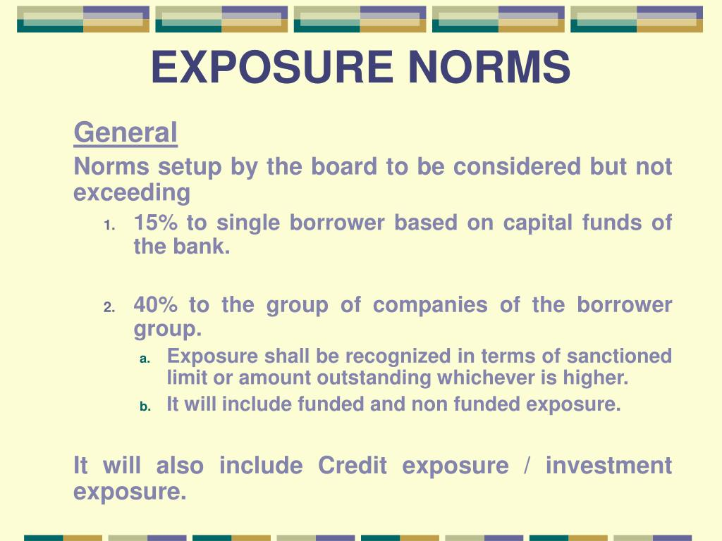 EXPOSURE NORMS
