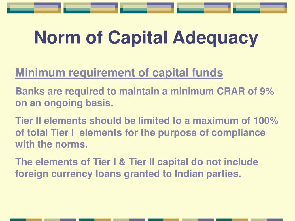 Norm of Capital Adequacy