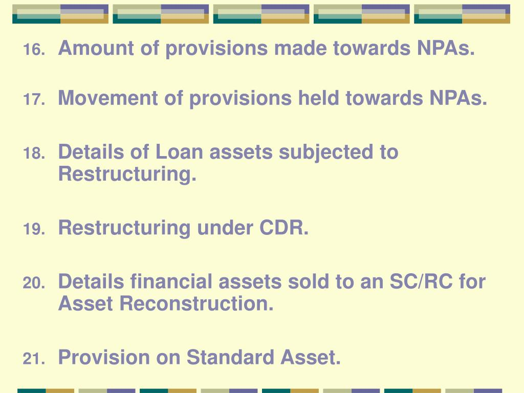 Amount of provisions made towards NPAs.
