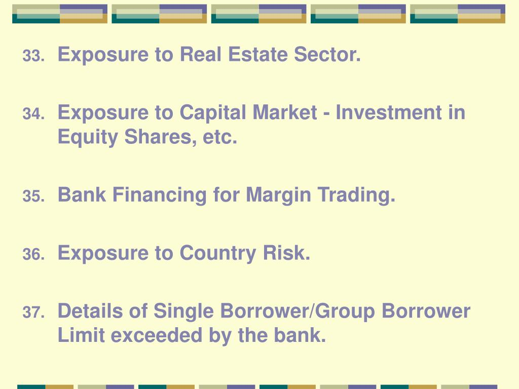 Exposure to Real Estate Sector.